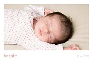 Faire-part de naissance polaroid simple 3 photos paysage blanc
