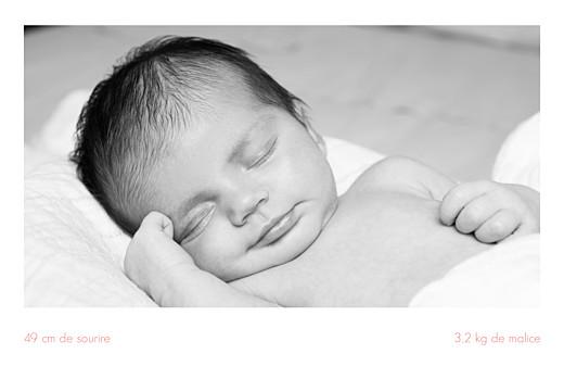 Faire-part de naissance Simple 3 photos paysage blanc