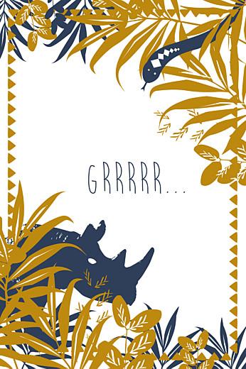 Carte d'anniversaire Jungle bleu & marron
