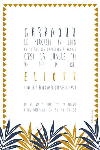 Carte d'anniversaire Jungle bleu & marron - Page 2