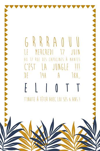 Carte d'anniversaire Jungle photo bleu & marron - Page 3