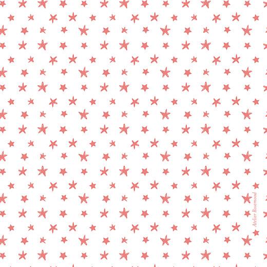 Carte de remerciement Petit ruban étoilé corail - Page 2