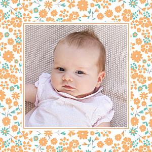 Carte de remerciement liberty merci gaieté photo orange