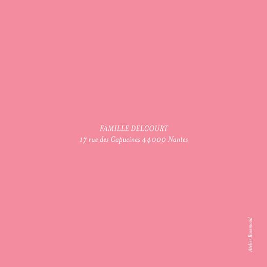 Carte de remerciement Merci pirouette rose - Page 2