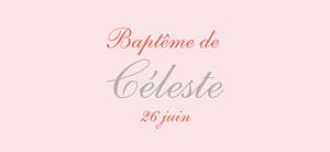 Etiquette de baptême Cerisiers en fleurs rose