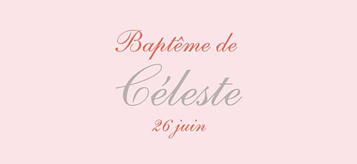 Etiquette perforée baptême Cerisiers en fleurs rose