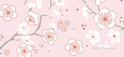Etiquette perforée baptême Cerisiers en fleurs rose - Page 2