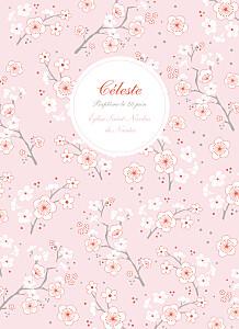 Livret de messe Cerisiers en fleurs rose