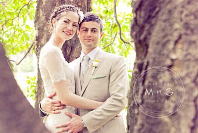 Carte de remerciement mariage Design blanc finition