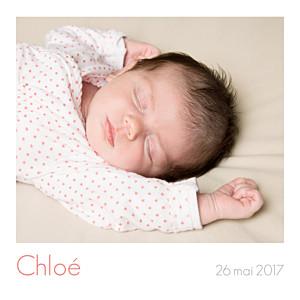 Faire-part de naissance marianne fournigault simple 5 photos (triptyque) blanc