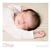 Faire-part de naissance Simple 5 photos (triptyque) blanc page 1