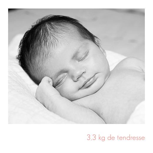 Faire-part de naissance Simple 5 photos (triptyque) blanc - Page 4