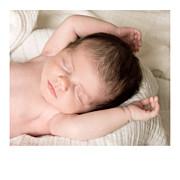 Faire-part de naissance Simple 5 photos (triptyque) blanc