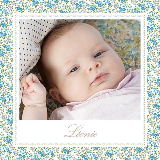 Faire-part de naissance Petit liberty jumeaux bleu - Page 4