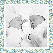 Faire-part de naissance Petit liberty jumeaux bleu page 5