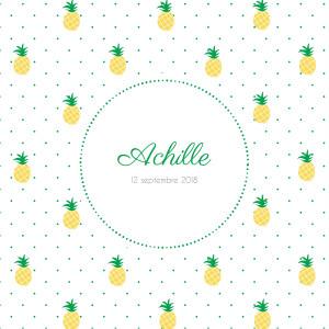 Faire-part de naissance Ananas 3 photos jaune