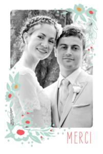Carte de remerciement mariage Eden vert