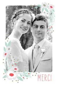 Carte de remerciement mariage Eden bleu nuit