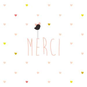 Carte de remerciement Petit lovely girl photo blanc