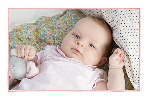 Faire-part de naissance Pirouette 2 photos paysage rose
