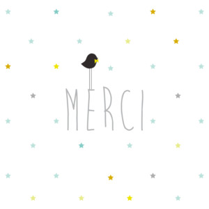 Carte de remerciement Petit lovely boy photo blanc