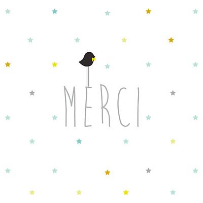 Carte de remerciement Petit lovely boy photo blanc finition