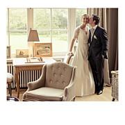 Carte de remerciement mariage Petit moderne (triptyque) blanc page 2