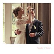 Carte de remerciement mariage Petit moderne (triptyque) blanc page 4