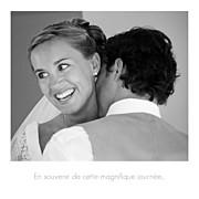 Carte de remerciement mariage Petit moderne (triptyque) blanc page 5