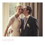 Carte de remerciement mariage Petit moderne (triptyque) blanc page 6