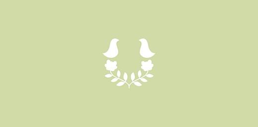 Marque-place Baptême Folk rose vert