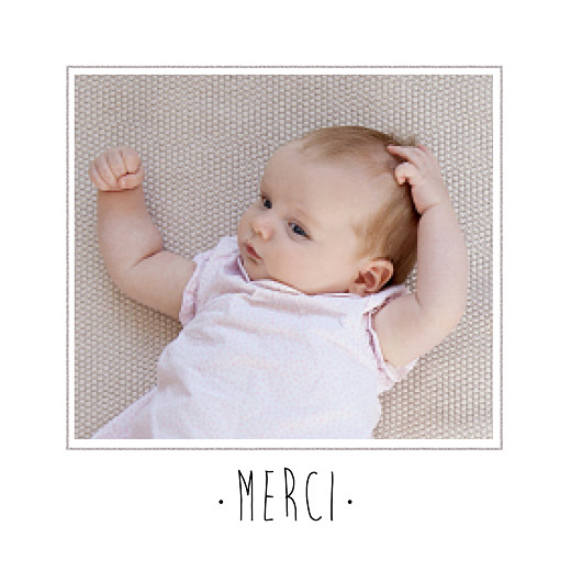 Carte de remerciement Merci big dots photo rose - Page 2