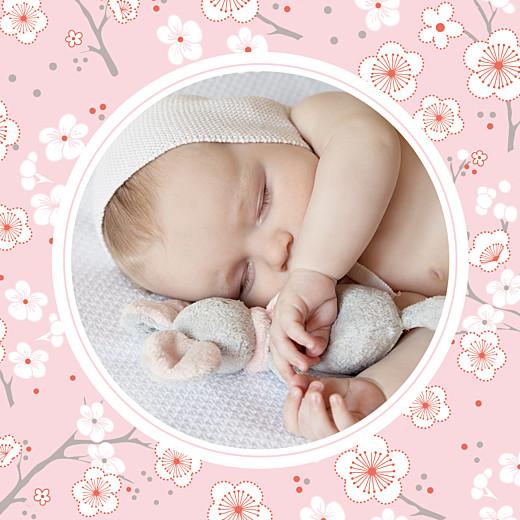 Carte de remerciement Cerisiers en fleurs photo rose