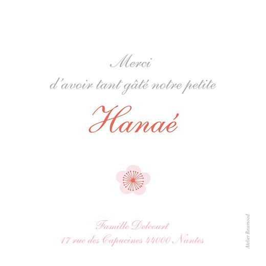 Carte de remerciement Cerisiers en fleurs photo rose - Page 2