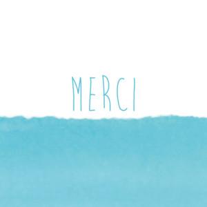 Carte de remerciement Petit papier bleu
