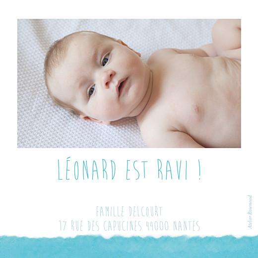Carte de remerciement Petit watercolour bleu