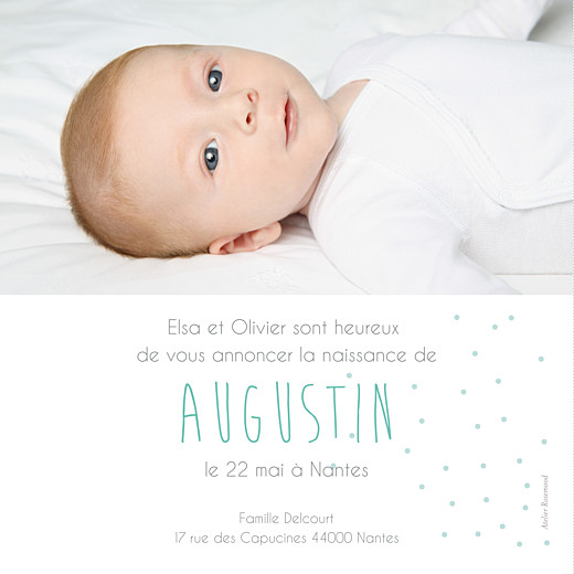 Faire-part de naissance Lovely boy photo (carré) blanc - Page 2