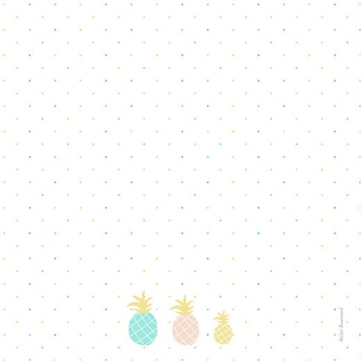Faire-part de naissance Ananas 3 photos bleu