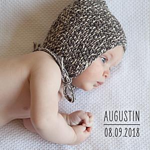 Faire-part de naissance L'essentiel (3 photos) blanc