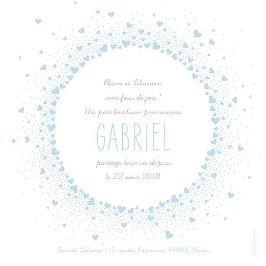 Faire-part de naissance Joli coeur bleu - Page 2