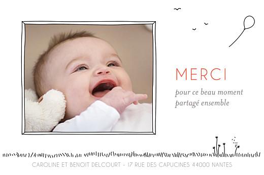 Carte de remerciement Petite promesse photo blanc