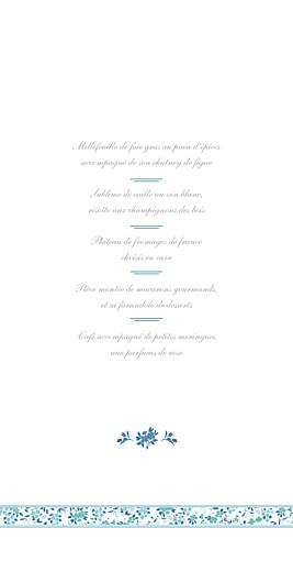 Menu de mariage Ruban liberty (4 pages) bleu - Page 3