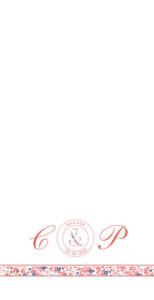 Menu de mariage Ruban liberty (4 pages) rouge