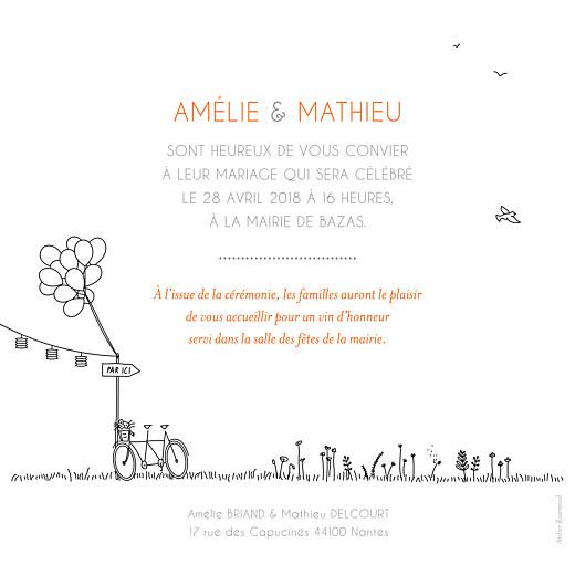 Faire-part de mariage Promesse champêtre blanc - Page 2