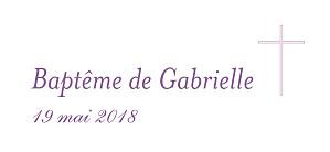 Etiquette de baptême Croix & colombes violet