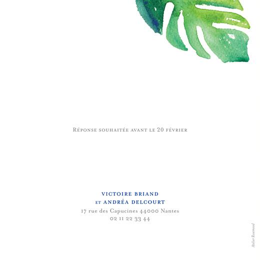 Faire-part de mariage Acapulco blanc & vert - Page 2