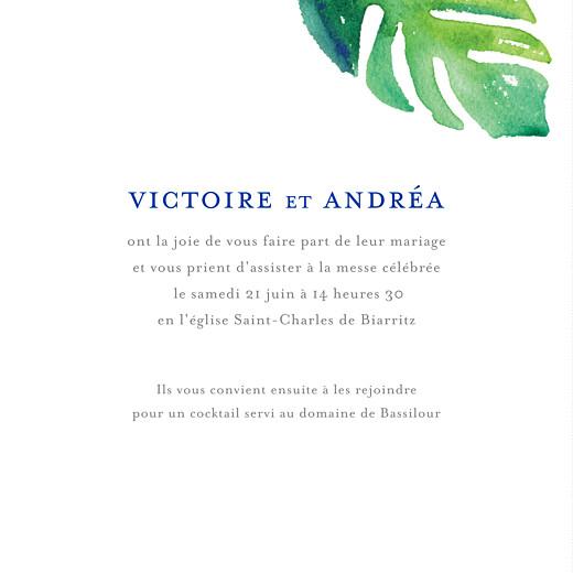 Faire-part de mariage Acapulco (4 pages) blanc & vert