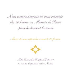 Carton d'invitation mariage On dirait le sud... jaune