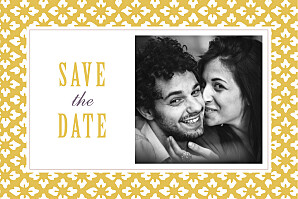 Save the date mr & mrs clynk  on dirait le sud... jaune