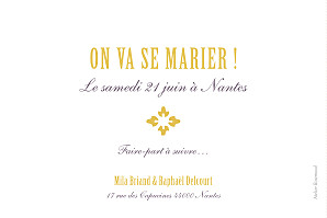 Save the Date On dirait le sud... jaune